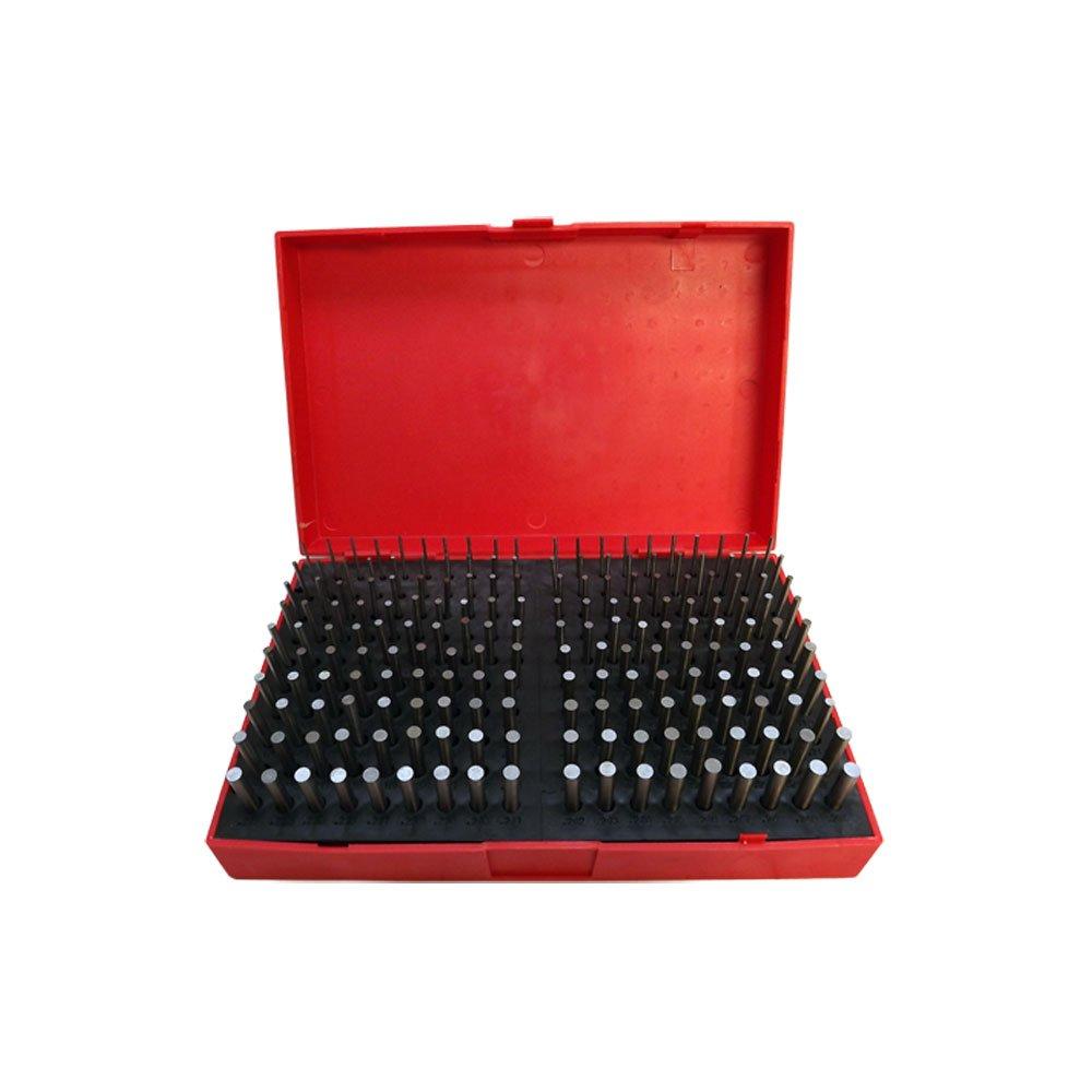 190 Pc M1 .061-.250'' Steel Plug Pin Gage Set Minus Plus Pin Gauges Metal Gage by Tools & More
