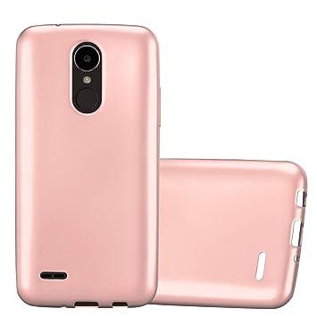 Cadorabo Funda para LG K4 2017 en Metallic Oro Rosa – Cubierta Proteccíon de Silicona TPU Delgada e Flexible con Antichoque – Gel Case Cover Carcasa ...