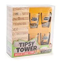 MDI Australia Tipsy Tower Drinking Game, Brown/Clear