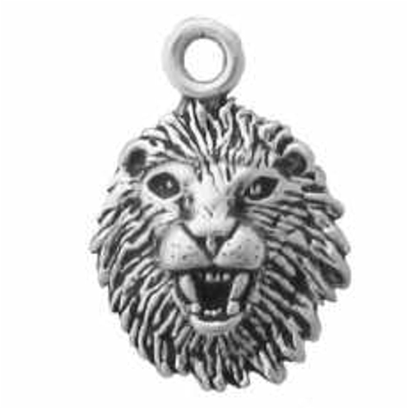 Sterling Silver 7 4.5mm Charm Bracelet With Attached Mini Lion Head Charm