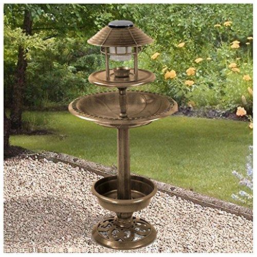 Solar Light Bird Feeder Bird Bath Planter