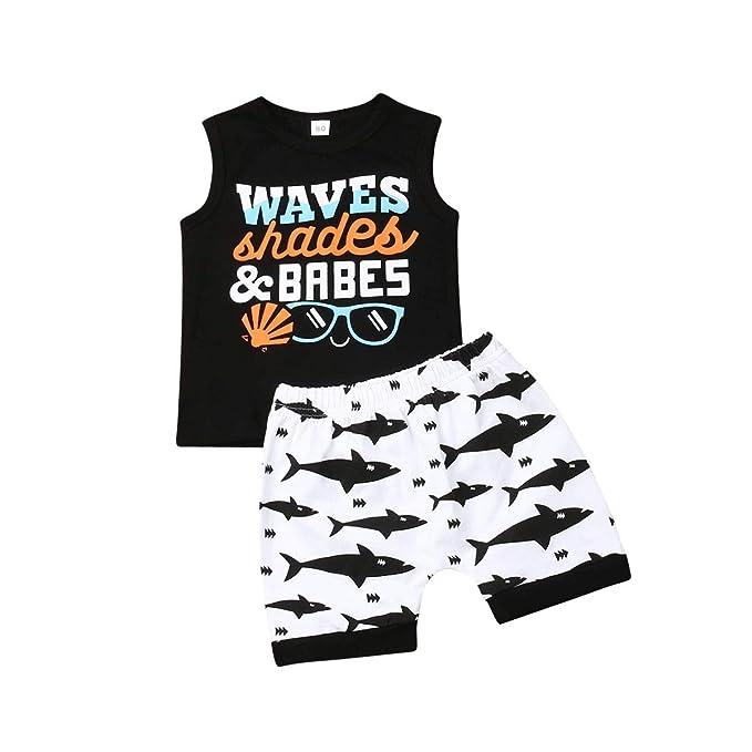 Amazon.com: Conjunto de 2 camisetas y pantalones cortos para ...
