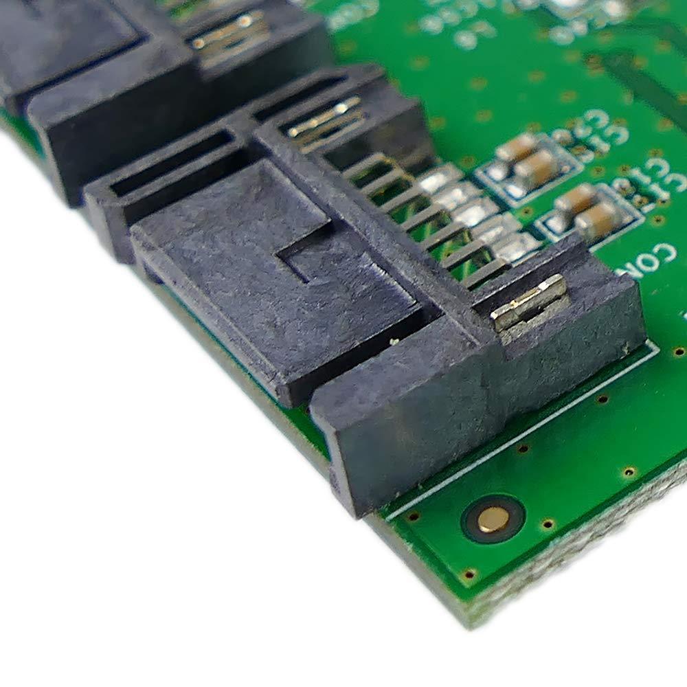 BeMatik Adaptador PCI-Express a SATA3 de 6 Gbps de 2 Puertos internos