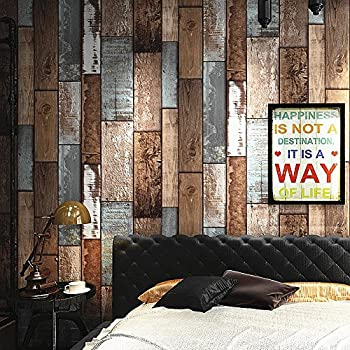 Blooming wall vintage wood panel wood plank wallpaper for Brewster wallcovering wood panels mural