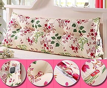 Color : #6 , Tama/ño : S Doble cojines de almohada coj/ín triangulares cabecera de la cama del respaldo