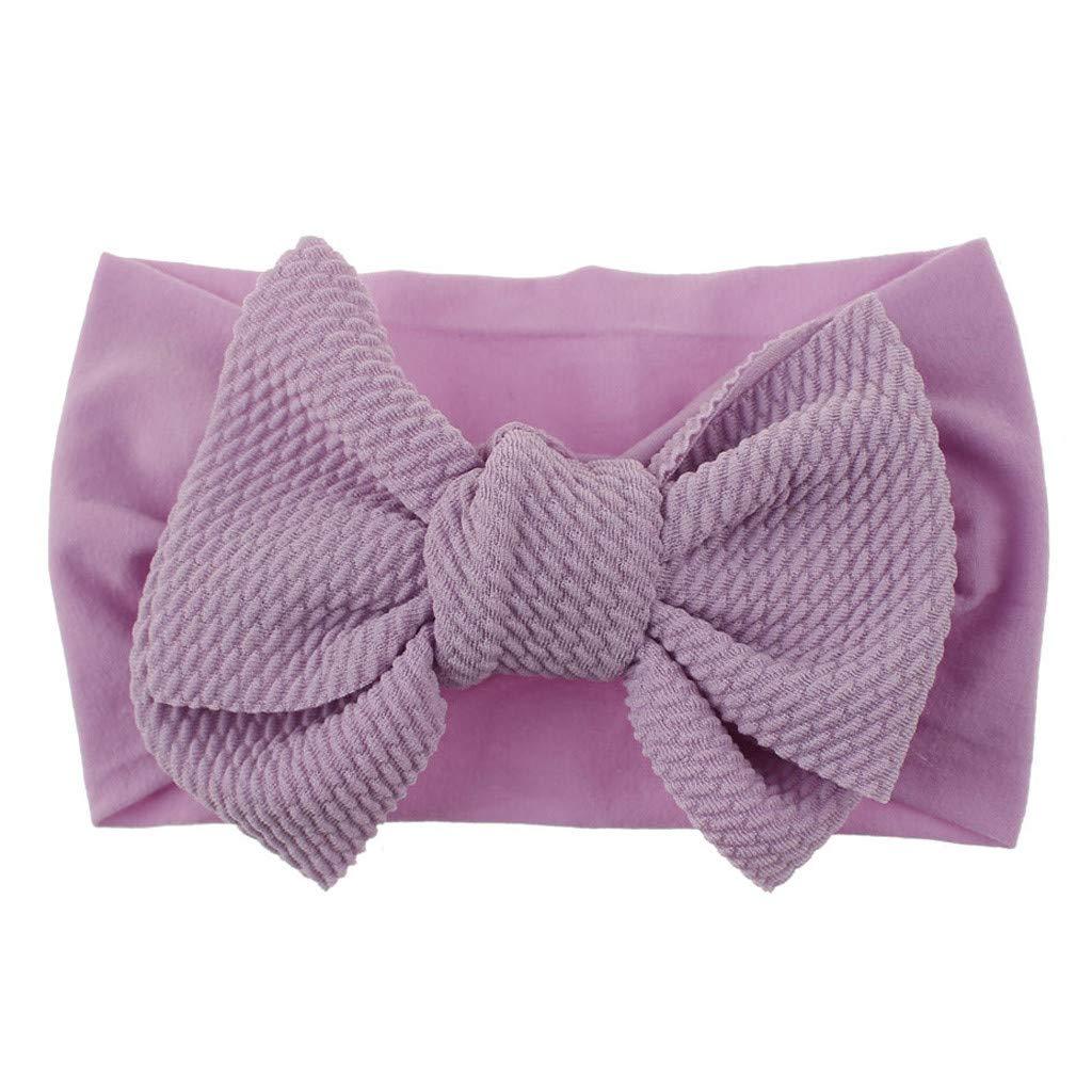 Baby Girls Headbands Baby Head Wraps Baby Headbands and Bows Chiffon Flower (Purple)