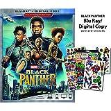 Black Panther Blu-Ray Bundle with LTD Sticker Sheet + Digital