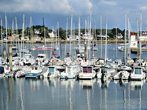 (Home Comforts Peel-n-Stick Poster of Brittany France La-trinitÃ-sur-mer Port The Trinity Poster 24x16 Adhesive Sticker Poster Print)