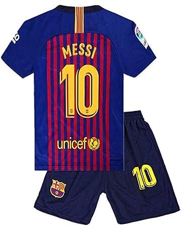 03aca708974 #10 Messi Barcelona Kids/Youth Home Boys Soccer Jersey & Shorts 18-19