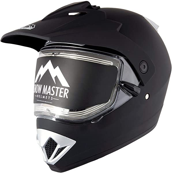 Snow Master TX-50 Silver Modular Dual Use Snowmobile and Street Helmet Silver//Large Snow Master Helmets TX-50-Silver