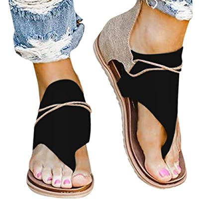 Flip Flop Sandals for Women, Women Super Posh Gladiator Comfy Sandals Casual Vintage Sandals with Zipper: Clothing