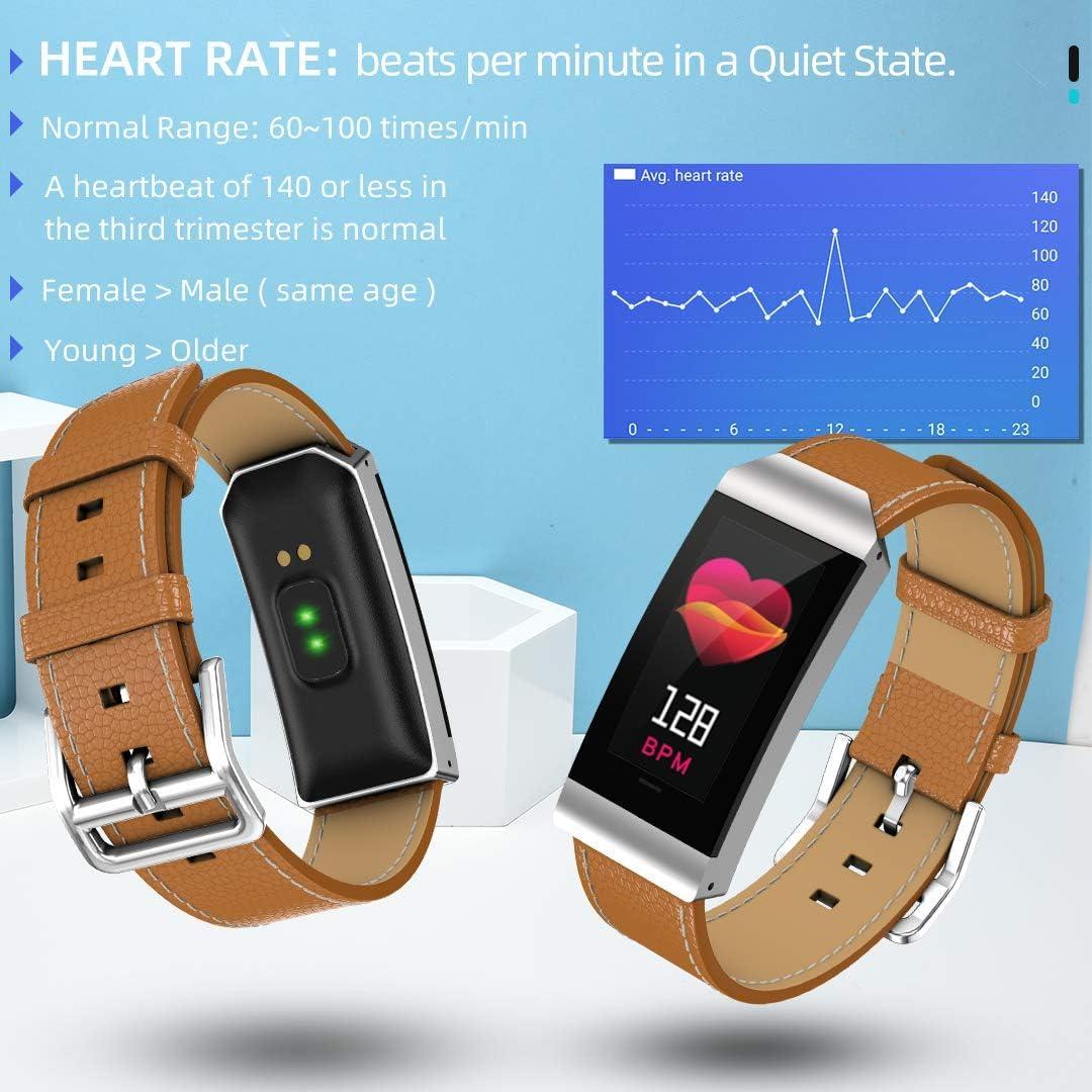 Amazon.com: Maxtop - Reloj inteligente de piel con monitor ...