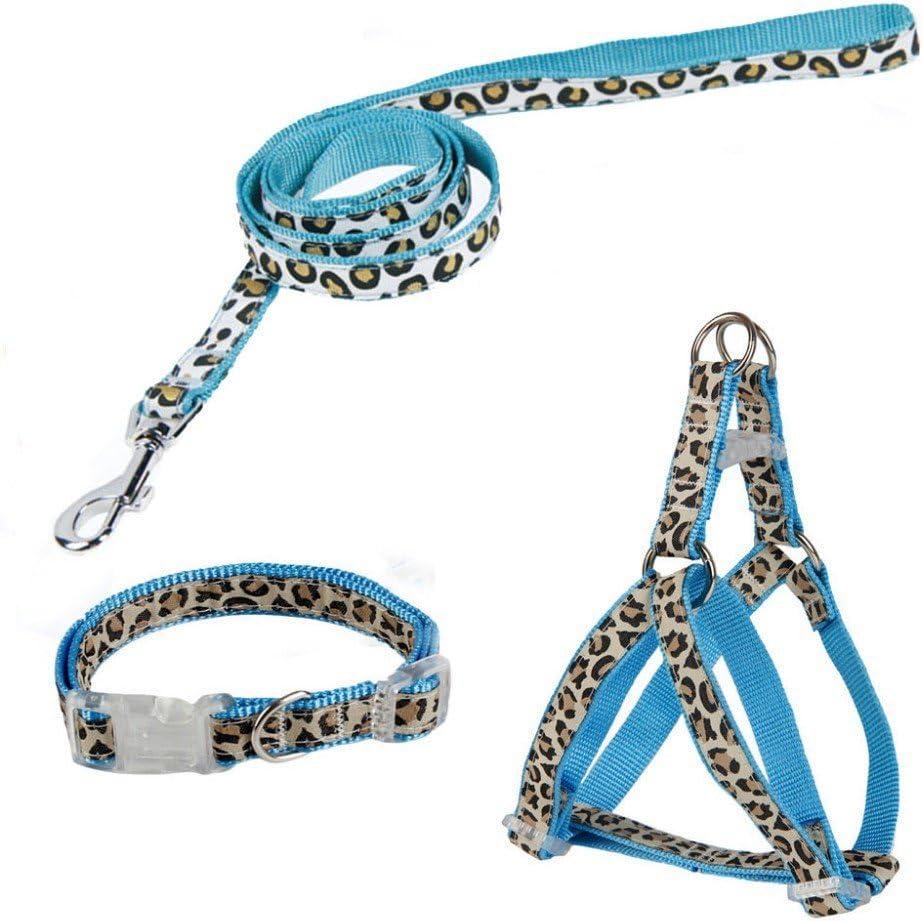 Arnes correa y collar para perros diseño leopardo: Amazon.es ...