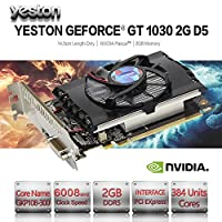 NXDA GT1030 2GB GDDR5 64bit HDMI DVI 4K Gaming Video Graphics Card With Fan For NVIDIA GeForce (Black)