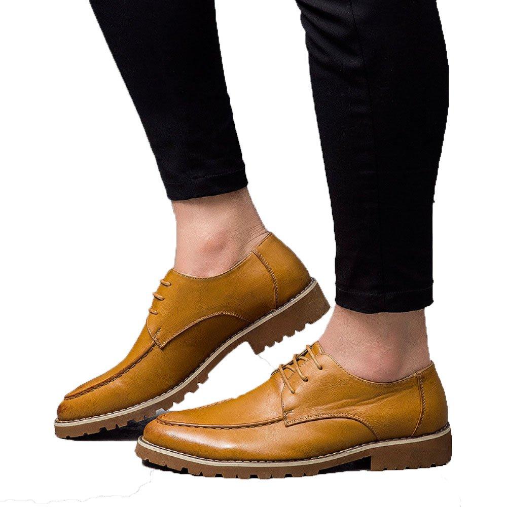 LQV Nuevos Zapatos para Hombres, De Moda, Casuales, Versátiles, Zapatos Diarios, Antideslizantes Ponibles Y Cómodos 38 EU Yellow