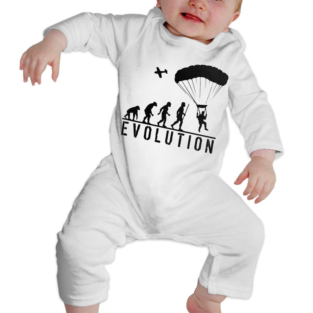 LBJQ8 Evolution Skydiving Unisex Baby Long Sleeve Bodysuit Sleepwear