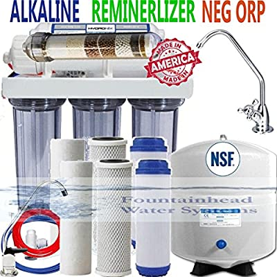 Reverse Osmosis Alkaline Ionizer Neg ORP System 150GPD CLEAR Faucet Choice Bonus