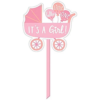 Amscan 190433 It's a girl Baby Girl Yard Sign: Kitchen & Dining