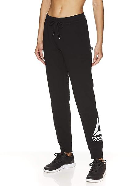 Reebok Womens Slim Fit Jogger Pants - Mid Rise Waist ...