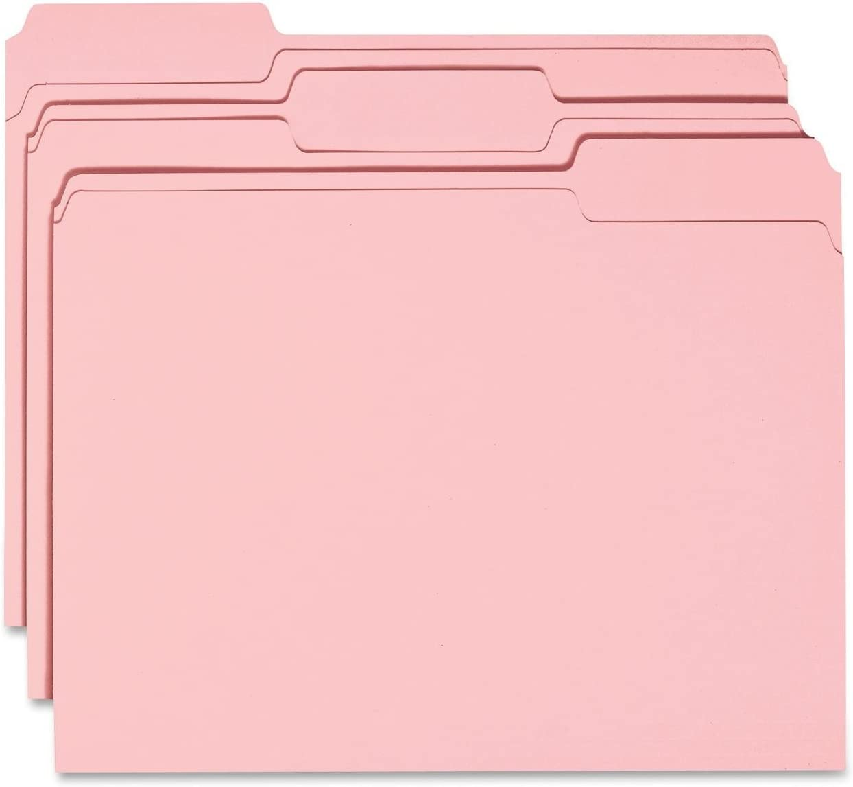 Smead File Folder, 1/3-Cut Tab, Letter Size, Pink, 100 per Box (12643)