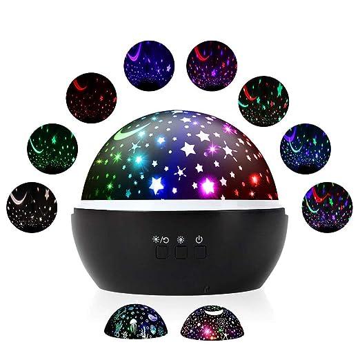 Fantasía lámpara de proyector Estrella Luna habitación luces de la ...