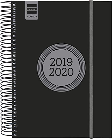Finocam - Agenda 2019-2020 1 día página español Espir Label Negro ...