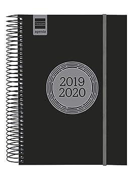 Finocam - Agenda 2019-2020 1 día página español Espir Label Negro