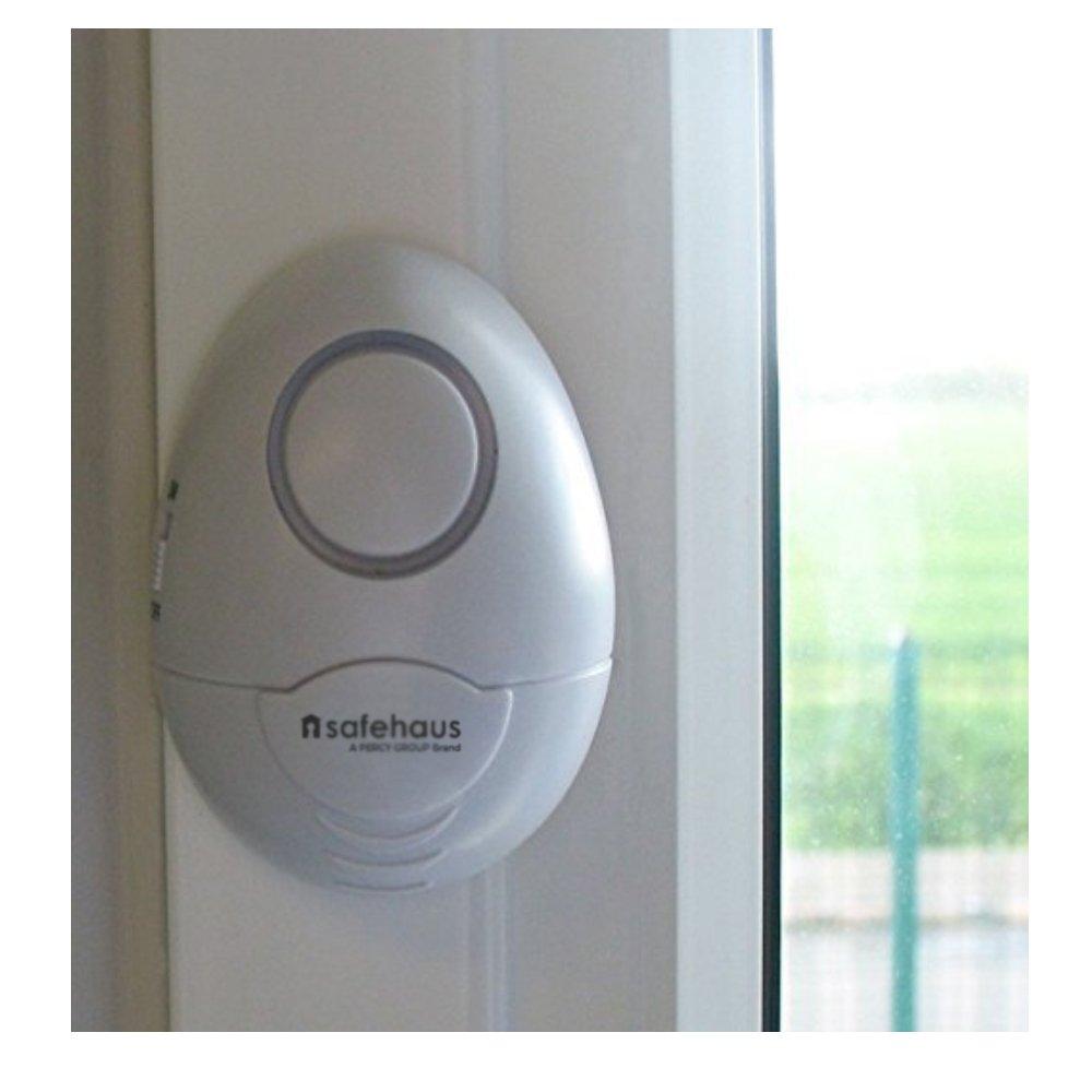 Safehaus Swa001 Door And Window Shockvibration Alarm White Pack