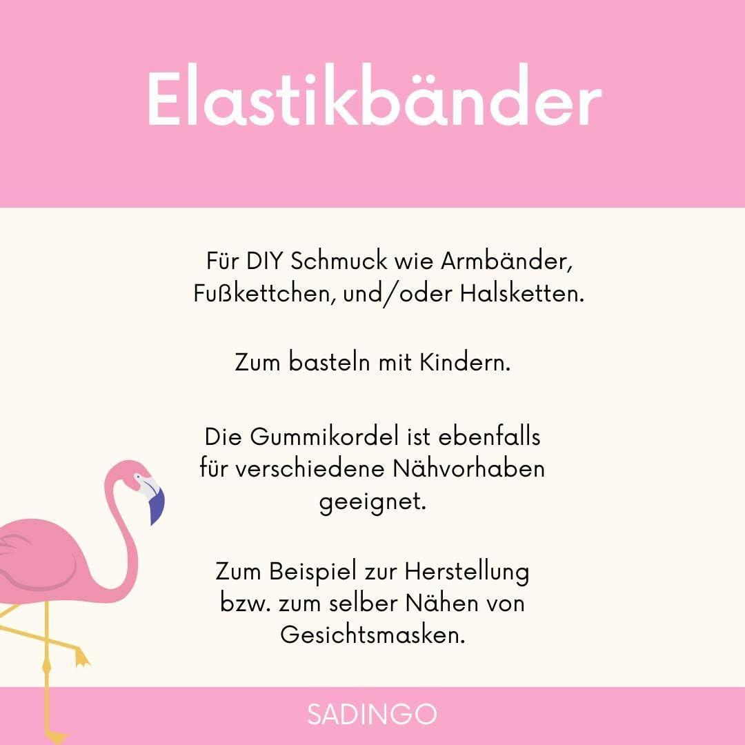 Schwarz 1mm DIY Schmuck Armband Gummiband Sadingo Elastisches Band 15 Meter Armb/änder Gummiband Perlenschnur