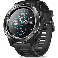 love-type Zeblaze Vibe 5 1.3 Inch Round Screen Heart Rate Sleep Monitor Smart Watch Sport Bracelet Fitness Tracker Black
