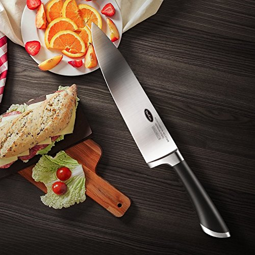 Kitchen Knife 8 inches Chef Knife - VIANKORS pro German stainless steel sharp knives, Highly Recommended,Razor Sharp, Ergonomic handle, For home & restaurant by Viankors (Image #5)'