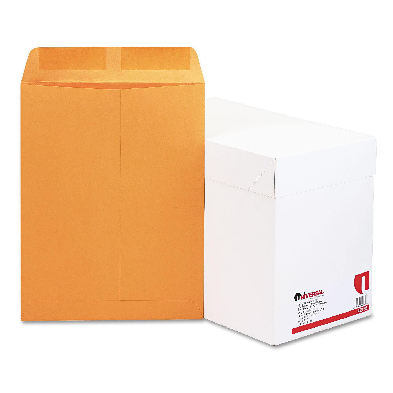 Catalog Envelope, Side Seam, 9 1/2 x 12 1/2, Light Brown, 250/Box