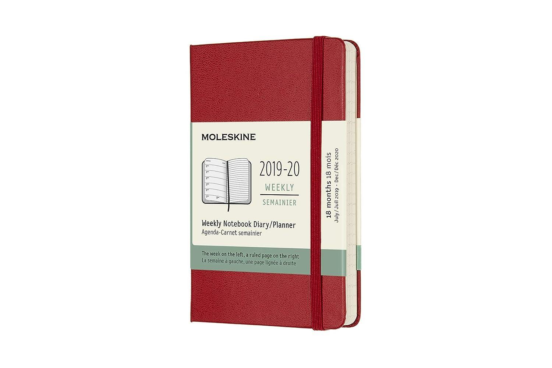 Moleskine 18 Monate Wochen Notizkalender 2019/2020 Pocket/A6 ...