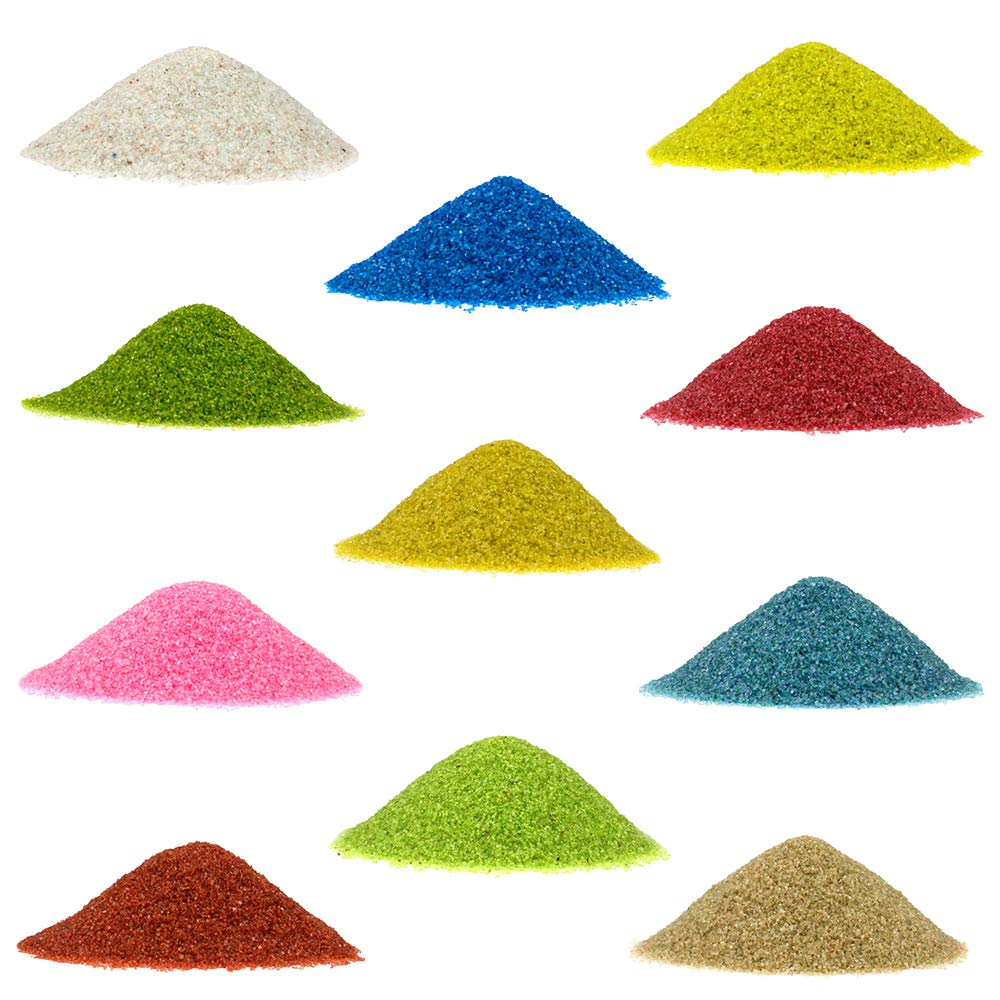 NW Wholesaler Colored Fine Floral Sand - 25 LB Box - Sinking Sand Perfect for Vase Fillers, Terrariums, Arts & Crafts, Aquariums, Home Decor, Weddings and Parties (Blue Hawaii) by NW Wholesaler