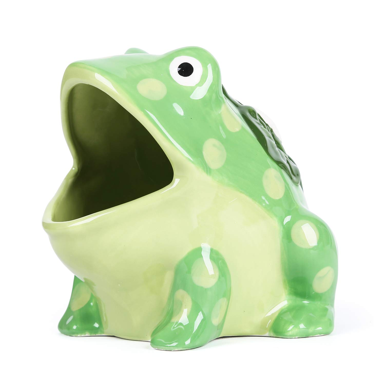 Hand Painted Ceramic Boston Warehouse 75483 Frog Scrubby Holder with Non-scratch Dish Scrubber