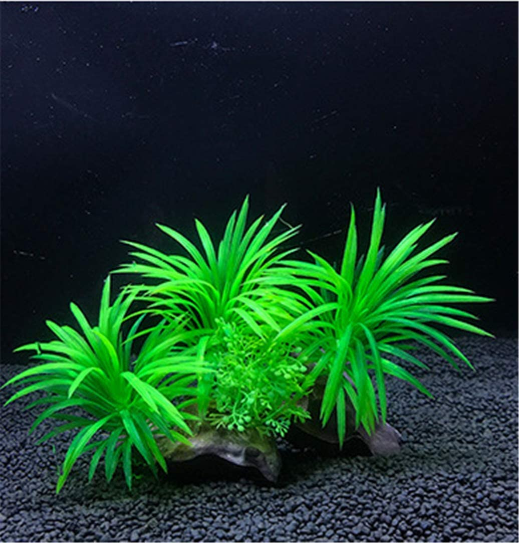 Safe for All Fish /& Pets Aquarium Decorations Fish Tank Artificial Green Water Plants Made of Silk Fabrics Plastic