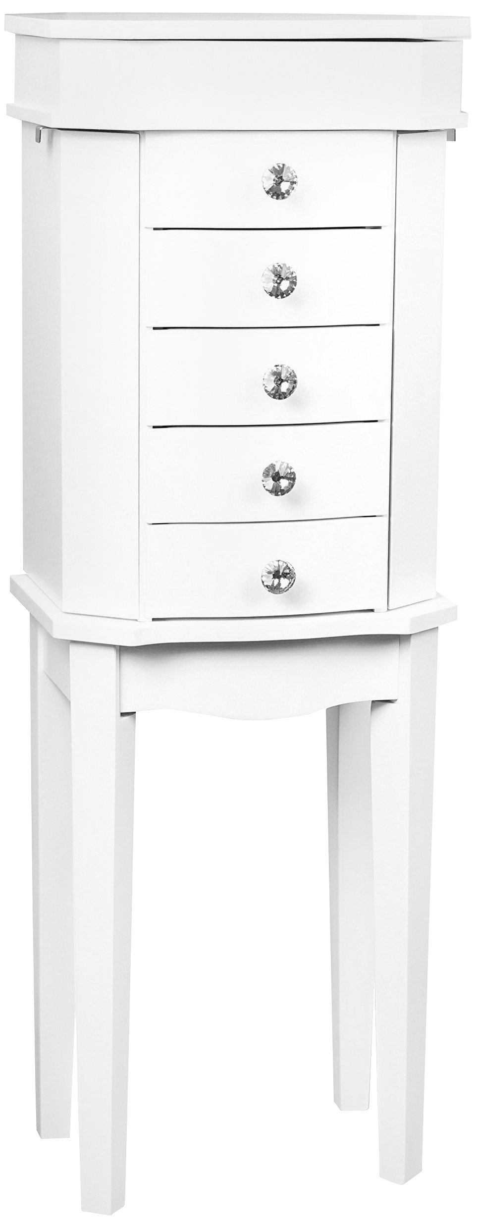 Hives and Honey ERIN Jewelry Armoire White 853499006851 eBay