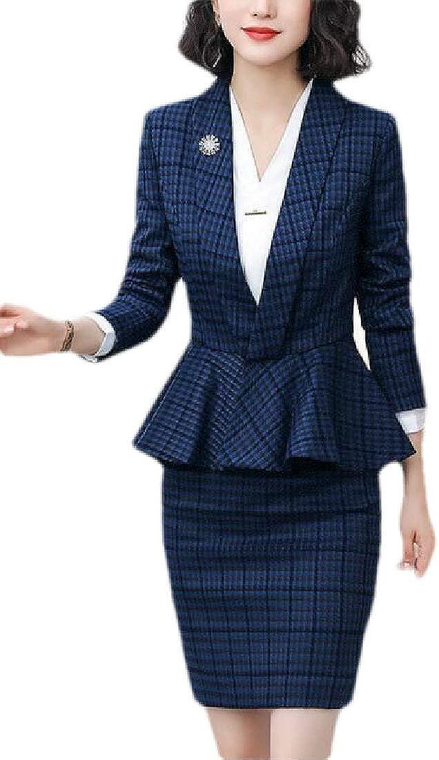 dahuo Ensemble blazer 2 pi/èces d/écontract/é /à manches longues et pantalon long pour femme
