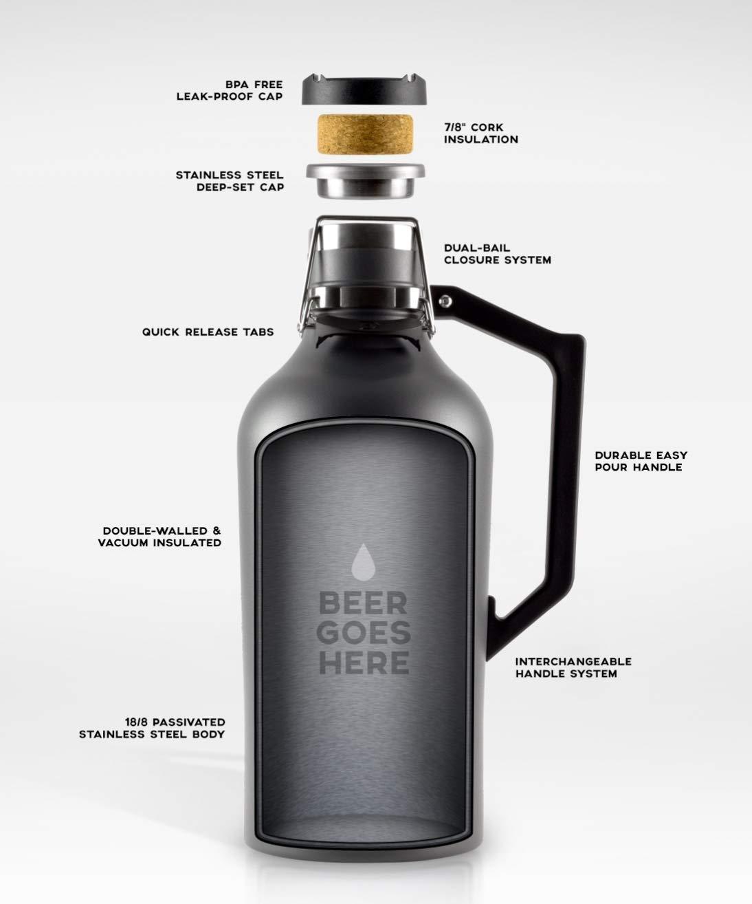 DrinkTanks 64 oz Vacuum Insulated Stainless Steel Beer Growler by DrinkTanks (Image #4)
