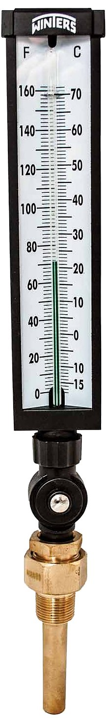 Winters TIM103ALF Lead free Well  Thermometer, 3/4'' NPT, 0 to 120 degrees F, ±1% accuracy, Graphite Filled