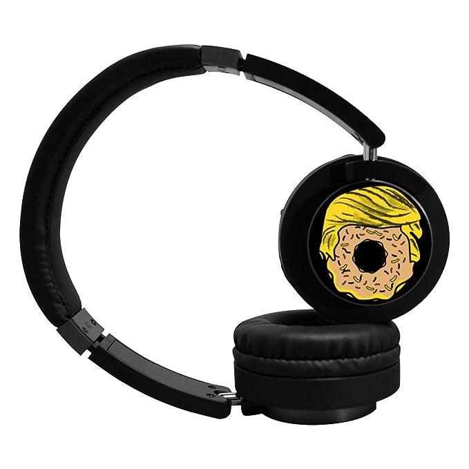 PeKnt Donut - Auriculares inalámbricos con Bluetooth, color negro