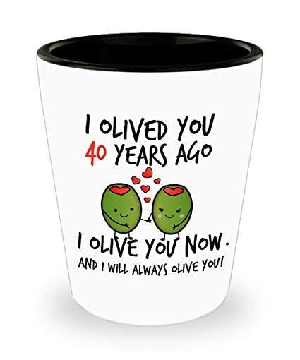 amazon com 40th wedding anniversary gifts for him i olived you