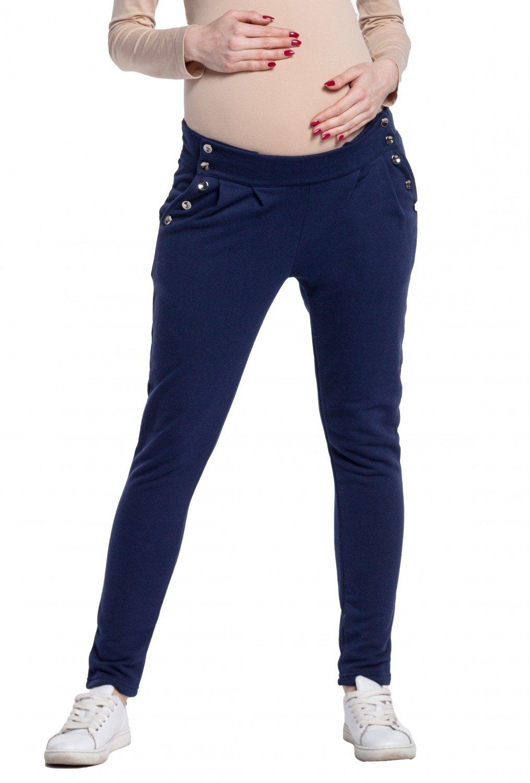 Happy Mama. Mujer Premamá Treggings Pantalones Botones Detalles Talle Bajo. 258p pregpants_258
