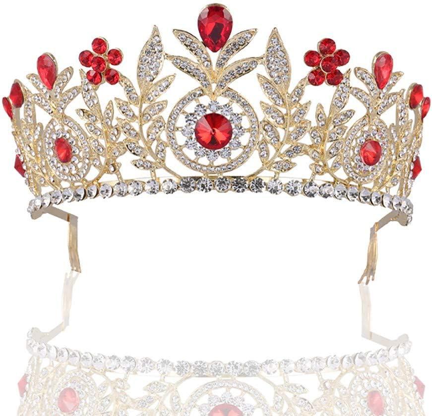 ACCP Tiaras,Corona de Cristal,Anillo para la Cabeza de Novia,Accesorios para el Cabello,Joyas,artículos de sombrerería para Bodas,Diamantes chapados en Oro