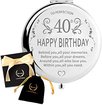 Amazon Com 40th Birthday Gifts For Women 1980 Artsun Best 40 Years Old Birthday Gifts For Wife Happy Birthday Gift Ideas Present For Turning 40 To Sister 30th 50th 60th 1990 1970 1960 40th Kitchen Dining