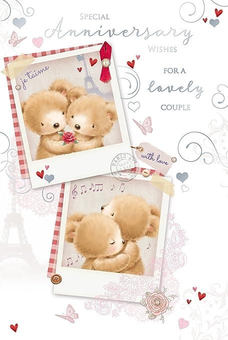 Carte Bonne Fete Ours.Out Of The Blue Open Carte D Anniversaire De Mariage Ours