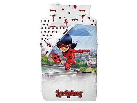 Saco Nórdico Ladybug Ideal Cama Nido o Litera de 90cm Licencia Oficial (Sin Relleno)