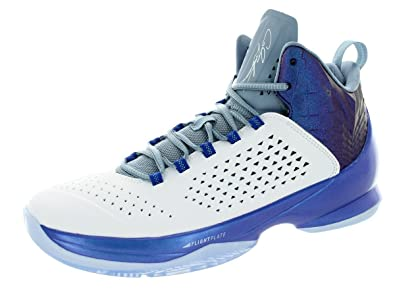 wholesale dealer bfd27 a4be5 Image Unavailable. Image not available for. Color  Jordan Nike Men s Melo  M11 White White Game Royal Cl ...