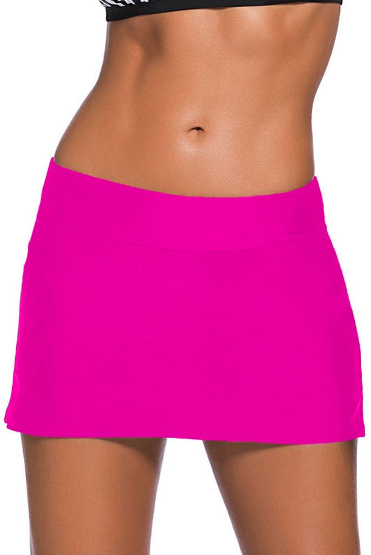 CHITONE Women's Bikini Swimming Skirt Panty Swimsuit Bottom Shorts Boardshort Size L Hot Pink