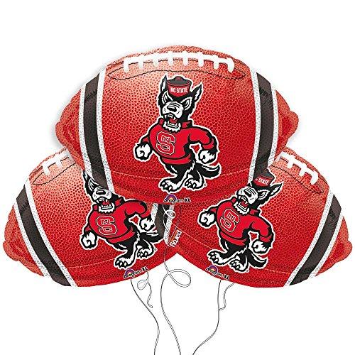 North Carolina State Logo College Football Mylar Balloon - 3 Pack
